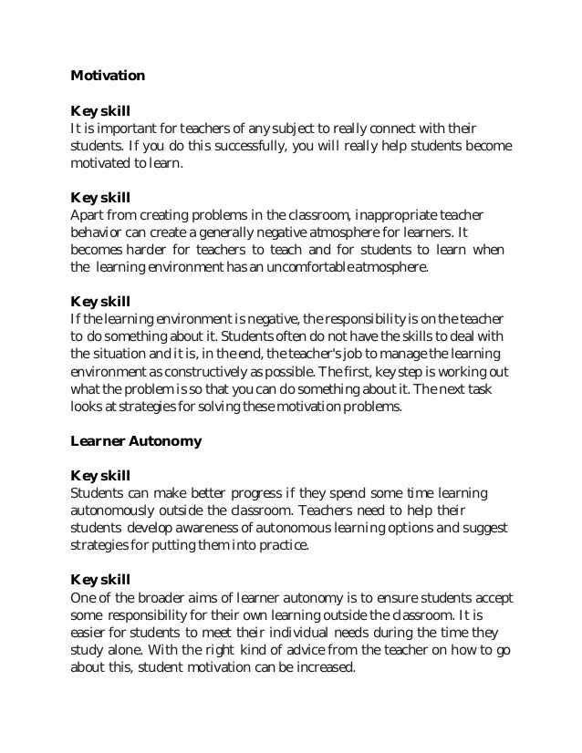 Key skills of EFL teacher