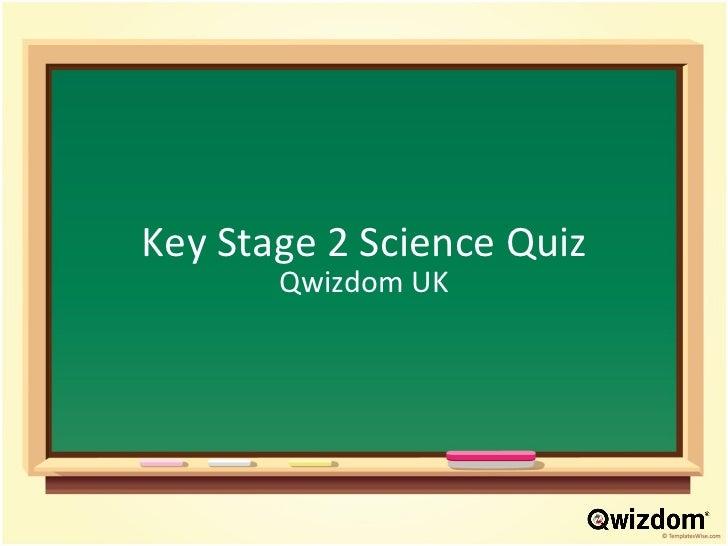 Key Stage 2 Science Quiz Qwizdom UK