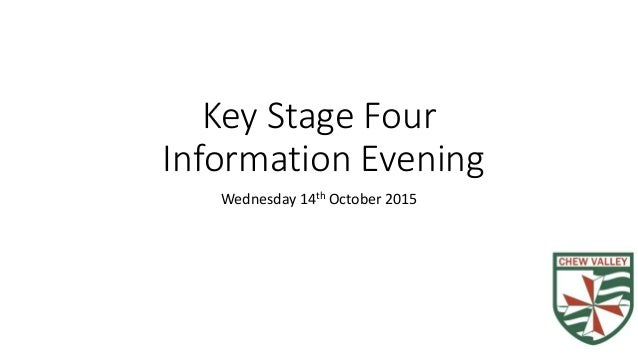 Key Stage Four Information Evening Wednesday 14th October 2015