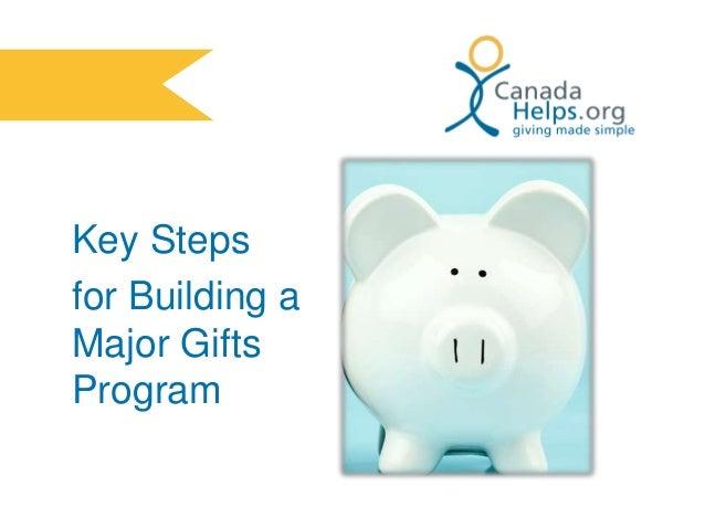 Key Steps for Building a Major Gifts Program