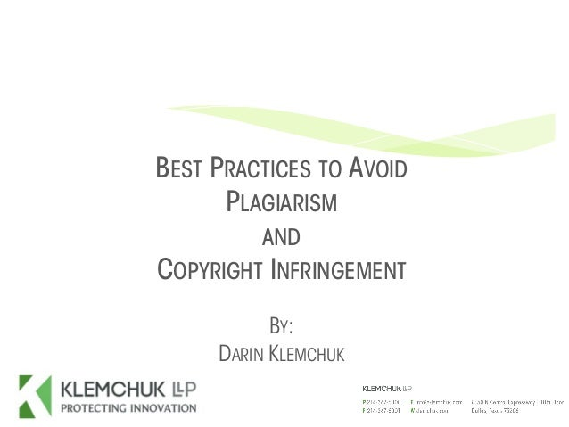 best way to avoid plagiarism