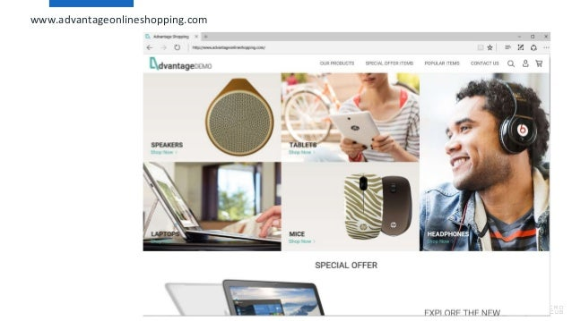 18 www.advantageonlineshopping.com