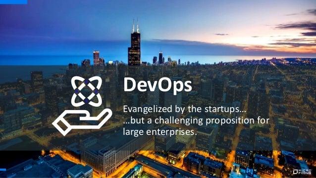 Evangelized by the startups… …but a challenging proposition for large enterprises. DevOps