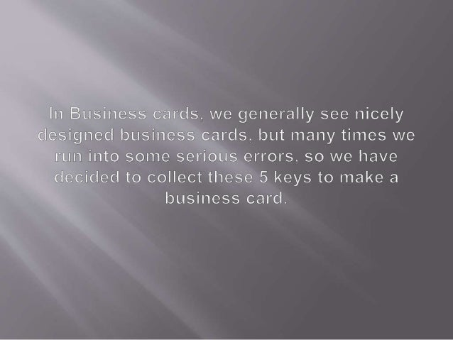 5 keys to making a successful business card 2 reheart Choice Image