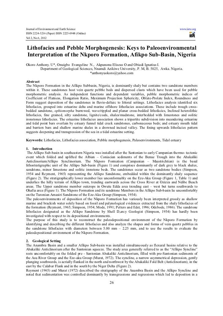 Journal of Environment and Earth Science                                                                 www.iiste.orgISSN...