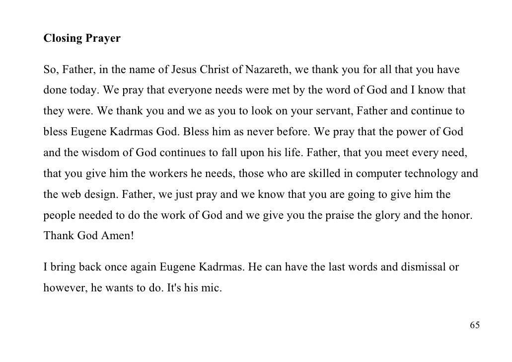 Keys to the Kingdom with Apostle Eugene Kadrmas