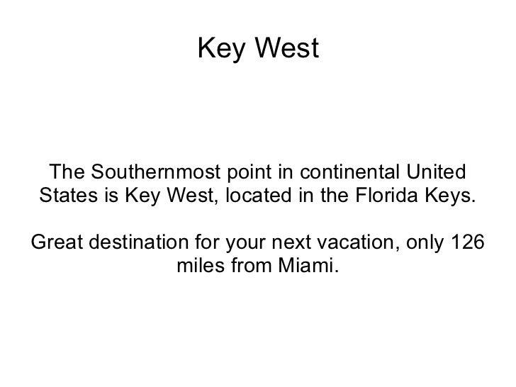 Visit key west essay