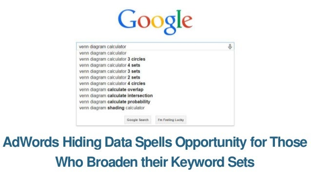 100 million keywords crawled from adwords hiding data spells opportunity for those who broaden their keyword sets ccuart Images