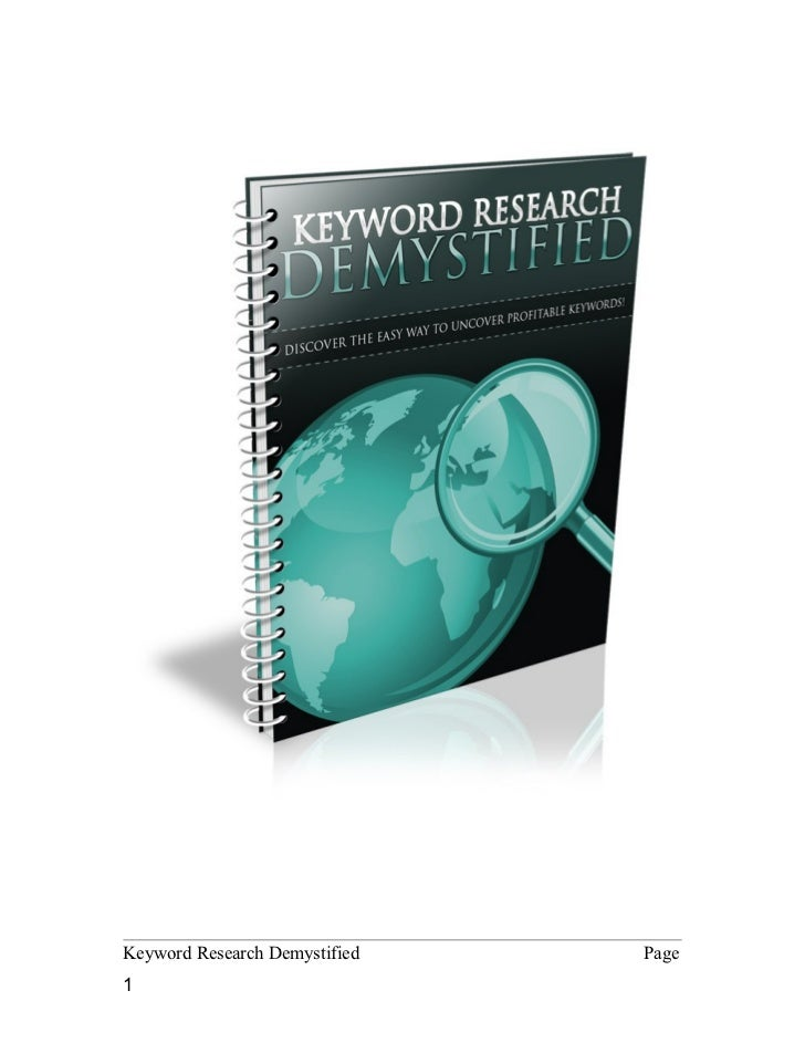 Keyword Research Demystified   Page1