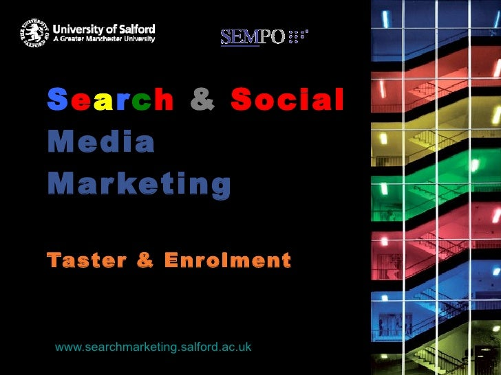 S e a r c h   &   Social  Media Marketing Keyword research taster session & Enrolment 1 st  September 2010 www.searchmarke...