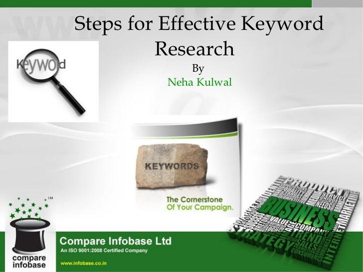 Steps for Effective Keyword Research   By  Neha Kulwal