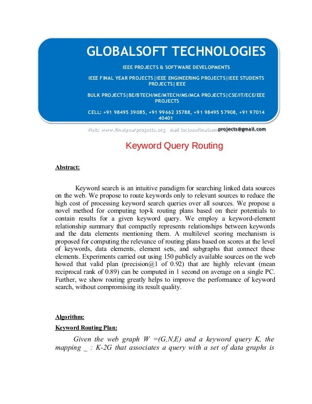 GLOBALSOFT TECHNOLOGIES  IEEE PROJECTS & SOFTWARE DEVELOPMENTS  IEEE PROJECTS & SOFTWARE DEVELOPMENTS  IEEE FINAL YEAR PRO...
