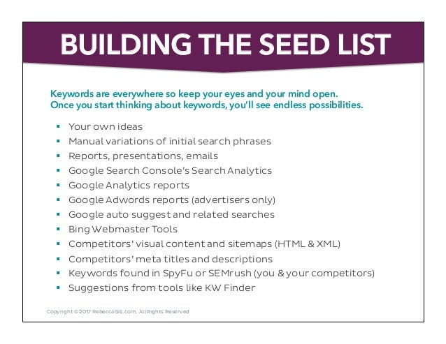 a practical guide to keyword research