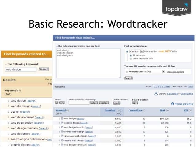 Basic Research: Wordtracker  @kenjurina