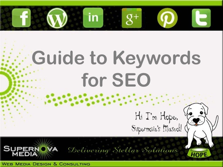 Guide to Keywords     for SEO