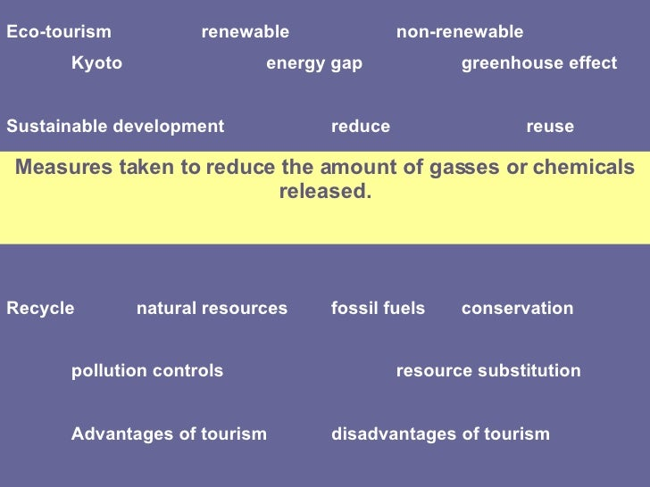 What are the control measures to lessen the negative effect of tourism in environment