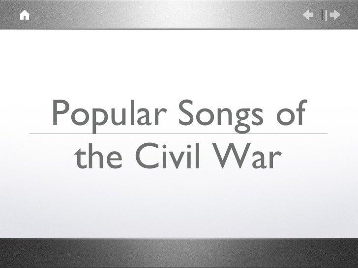 Popular Songs of the Civil War