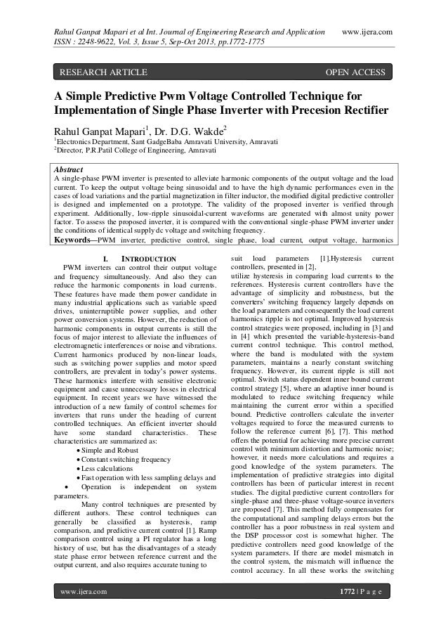 Rahul Ganpat Mapari et al Int. Journal of Engineering Research and Application ISSN : 2248-9622, Vol. 3, Issue 5, Sep-Oct ...