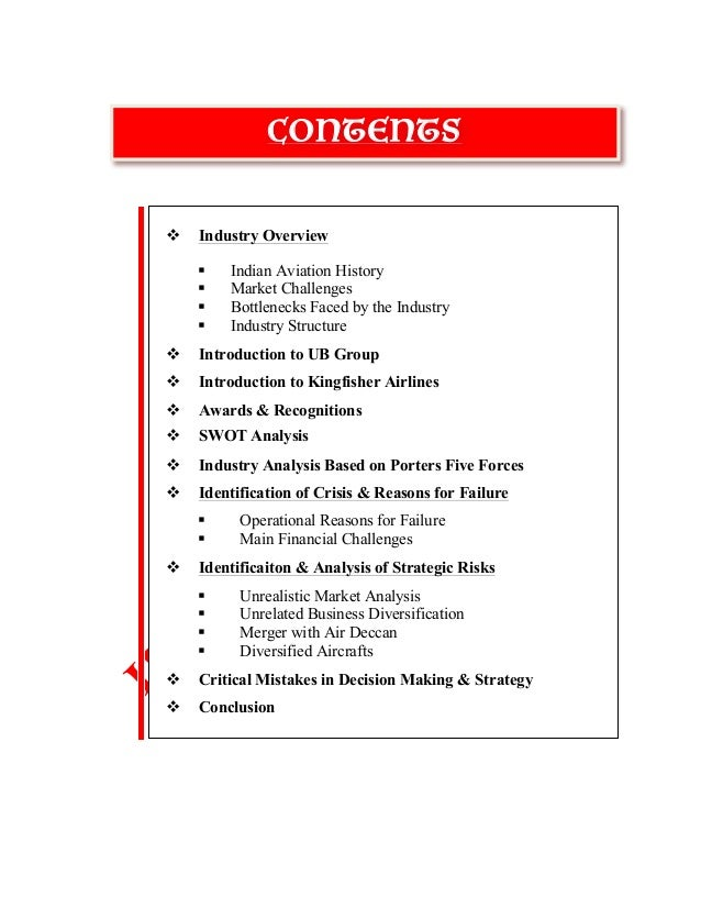 Kingfisher Airlines Swot Analysis