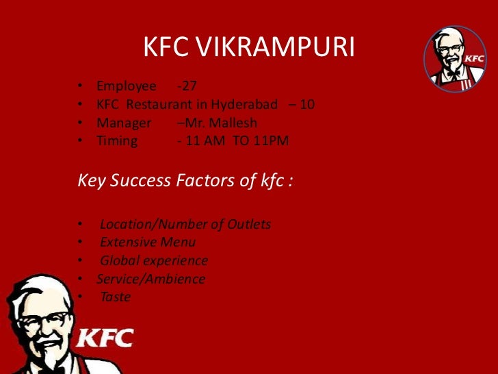kfc products services  quick service logistics (qsl), failed deliveries, supervision issues and  have  kfc got enough capability in terms of logistics expertise and.