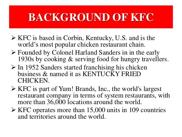 study of kfc Study guides get your head around tough topics at a-level with our teacher written guides learn more.