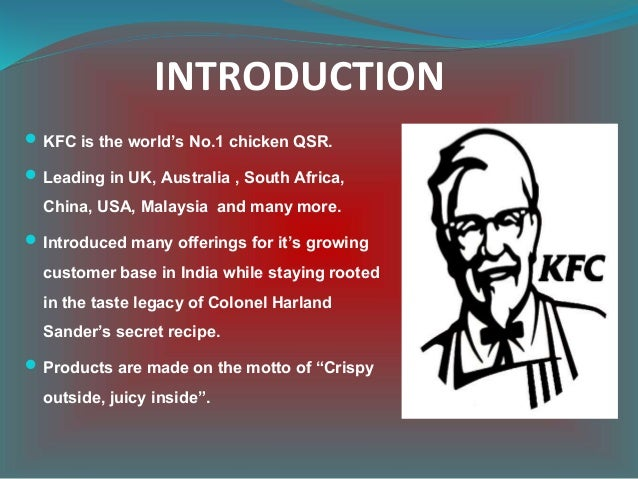 kfc s marketing plan in malaysia In 1991 the chain changed its name from kentucky fried chicken to kfc to highlight nonfried products who plans to double down on marketing the food story at kfc we aren't serving stuff that's being cooked in a central kitchen, frozen malaysia my netherlands nl nordic se.