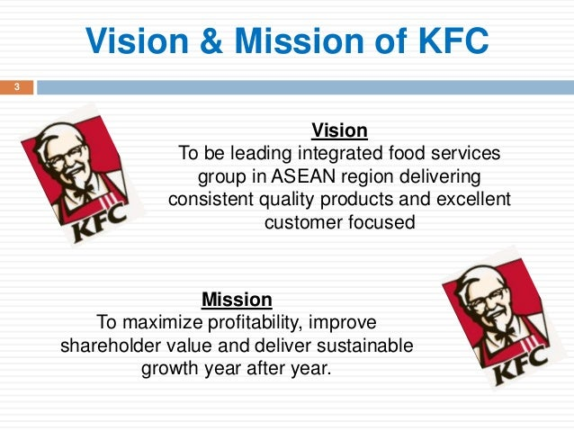 kentucky fried chicken mission and vision statement Learn about kfc australia including the history of kfc and facts about stores,  we pride ourselves on using quality chicken and local ingredients from trusted.