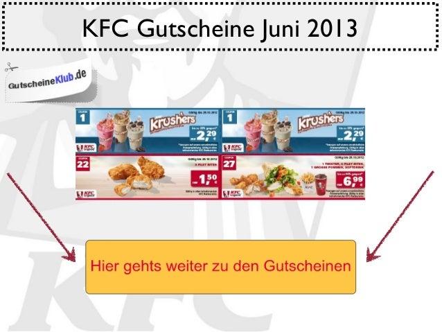 KFC Gutscheine Juni 2013