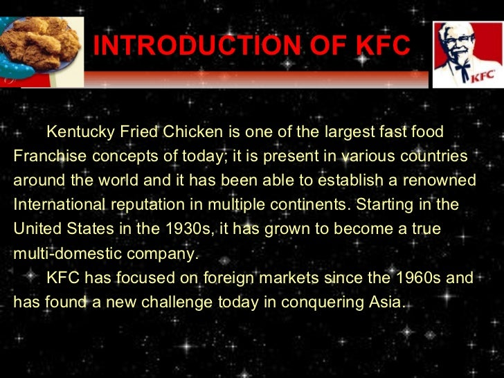 Essays kfc introduction
