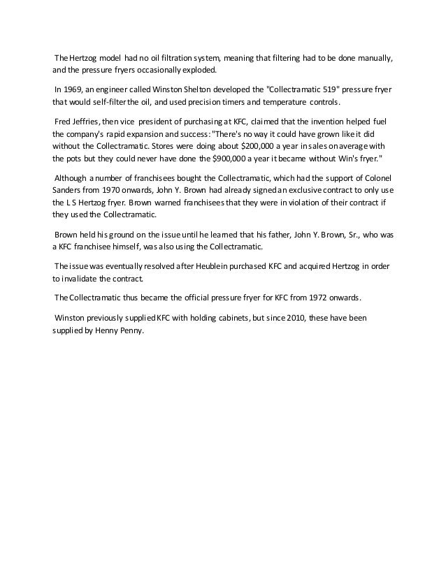 Project report on kfc