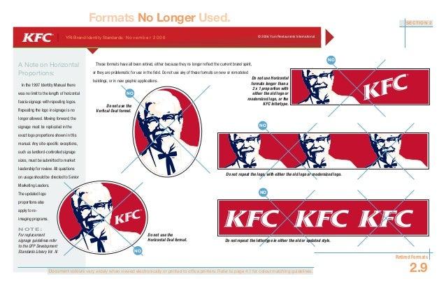 kfc brand standards manual