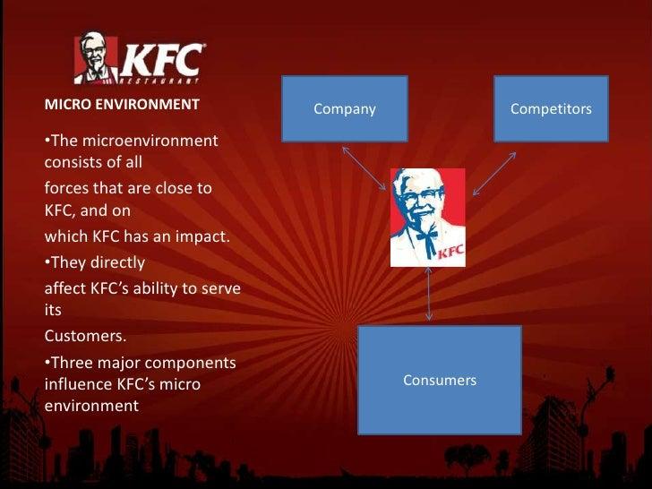 kfc microenvironment analysis Kfc four ps structural analysis kfc project report on kfc kfc_assignment   three major components influence kfc's micro environment: consumers.