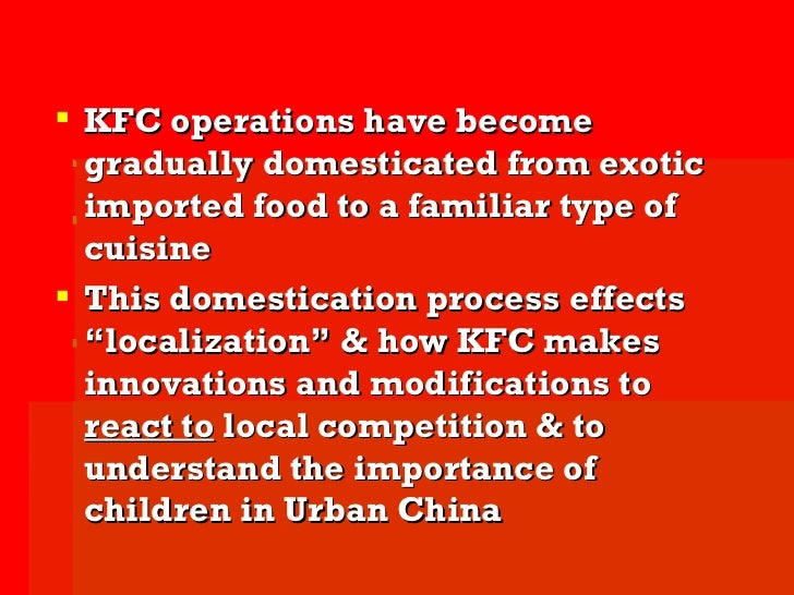operation process of kfc Mcdonalds operations  the service process design for mcdonalds would definitely start off physical  the results is an operation with high holding costs,.