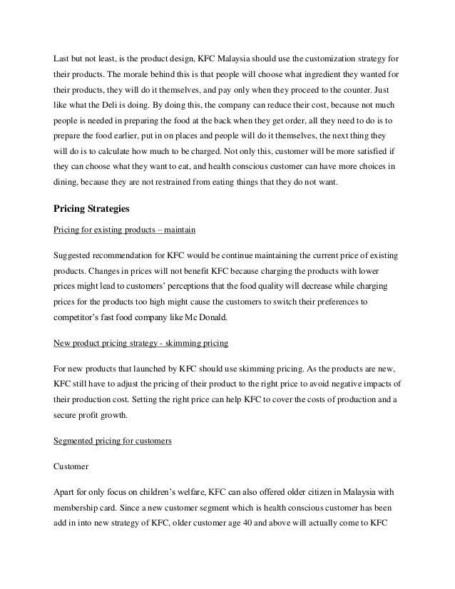 kfc business plan Kfc business model by simon james kentucky fried chicken corporation (kfc )  3 company overview 4 strategic business plan of kfc 4 mission, vision.
