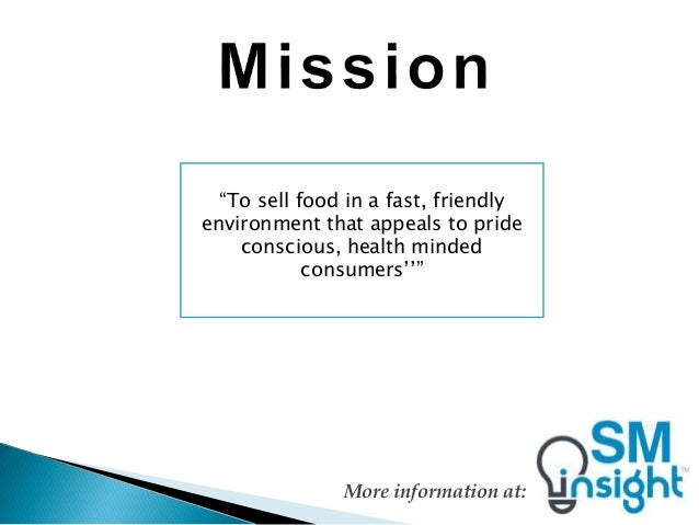 wendy s vision and mission Nike doesn't have a vision statement, but it does have a mission statement: our mission: to bring inspiration and innovation to every athlete in the world if you have a body, you are an.