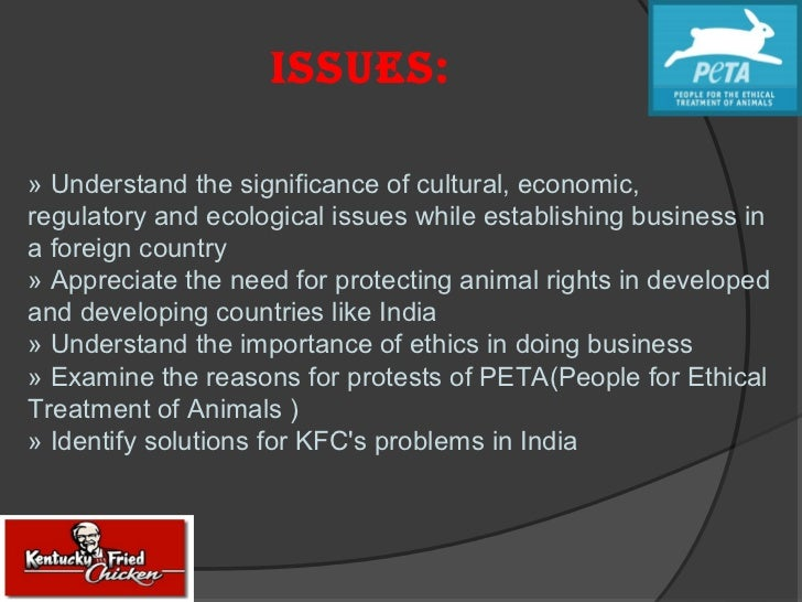 kfcs ethical policies People for the ethical treatment of animals  peta wins kfc campaign in canada  that coordinates purchasing chickens for all kfcs in canada to dramatically .