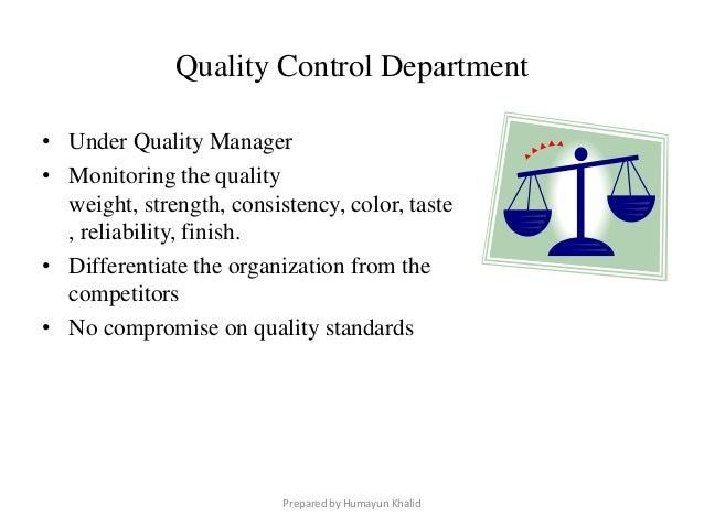kfc quality control system
