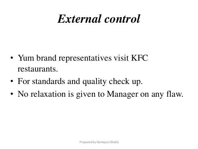 quality control of kfc