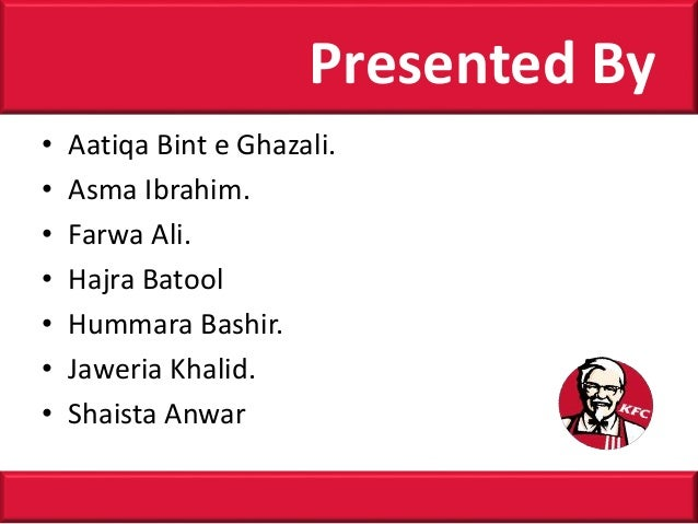 • Aatiqa Bint e Ghazali. • Asma Ibrahim. • Farwa Ali. • Hajra Batool • Hummara Bashir. • Jaweria Khalid. • Shaista Anwar P...