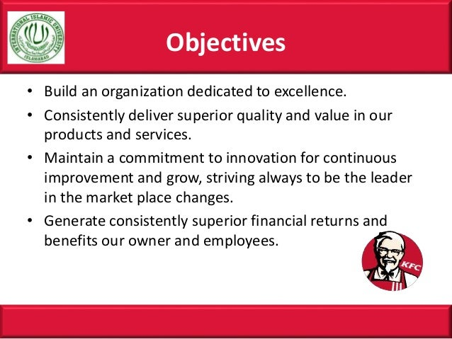Mission statement of KFC