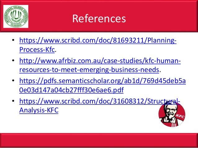 knowledge management on kfc Does kfc sell rat  in the wake of a rumor outbreak, aslib journal of  information management , vol  subject area: information & knowledge  management.