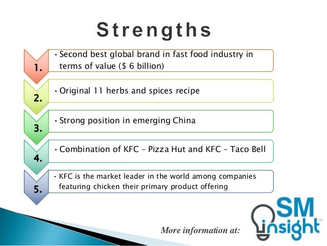 kfc swot porter value In this report, there will be an analysis on the complexity of organisations and the  environments by utilising the swot analysis, porter's value.
