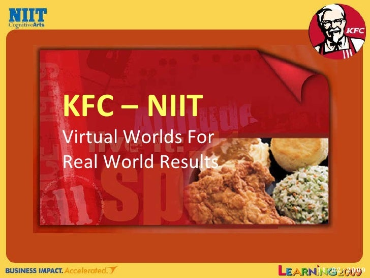 11-02-2009 KFC – NIIT Virtual Worlds For Real World Results
