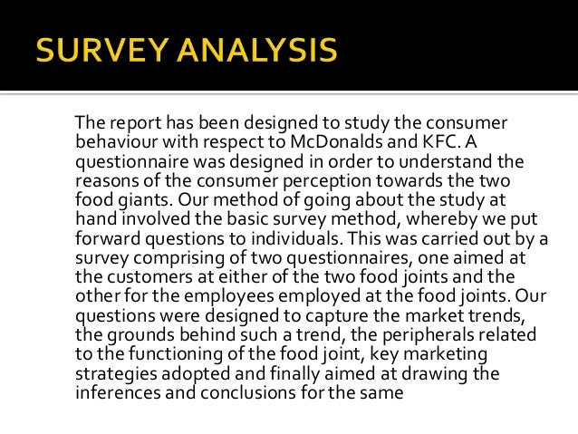 Kfc research questionnaire