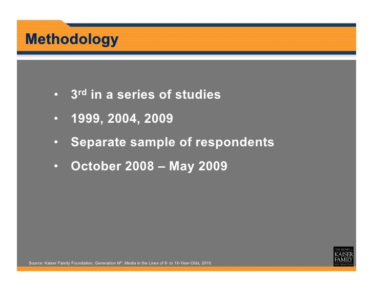 Media in the Lives of 8- to 18-Year-Olds KFF 2010 Slide 3
