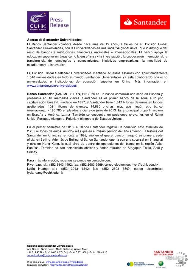 K Foundation, con el apoyo del Santander, dona casi 300.000 dólares a la Universidad China de Hong Kong Slide 3