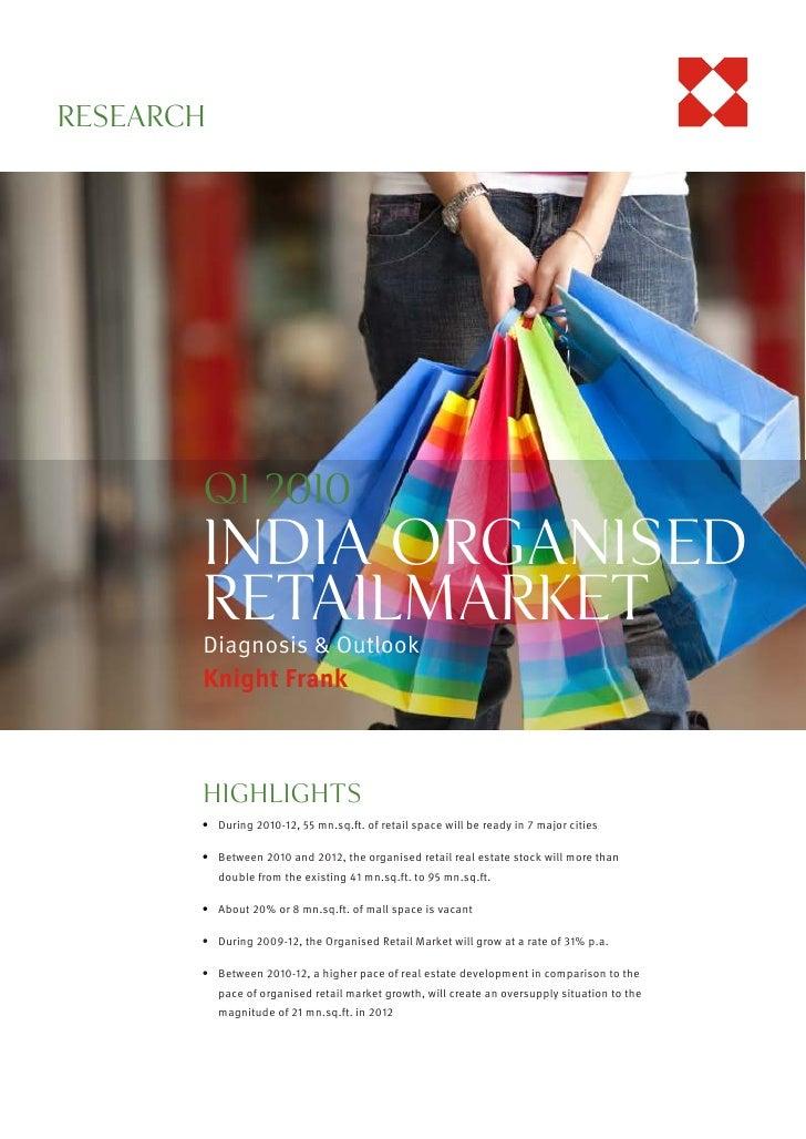 RESEARCHKnightFrank.co.in                    Q1 2010                    India OrganiSed                    ReTAILMarket   ...