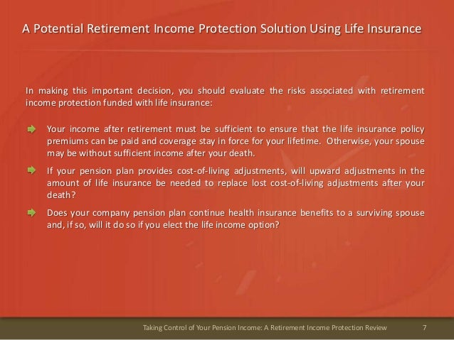 A Potential Retirement Income Protection Solution Using Life Insurance7Taking Control of Your Pension Income: A Retirement...
