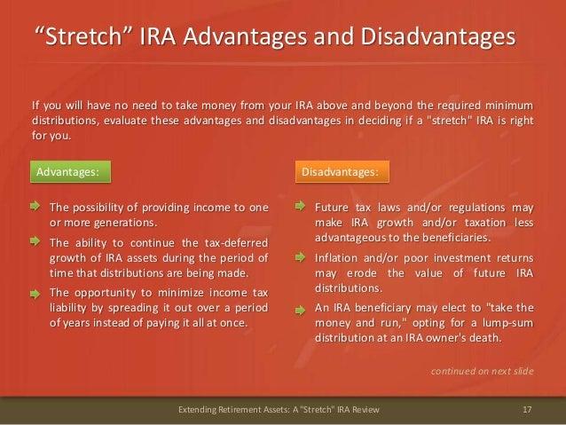 """Stretch"" IRA Advantages and Disadvantages17Extending Retirement Assets: A ""Stretch"" IRA ReviewAdvantages: Disadvantages:I..."
