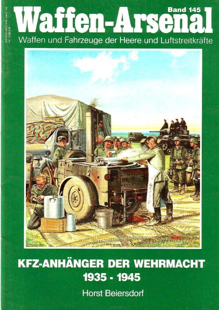 K F Z Anhanger Der  Wehrmacht 1939 1945